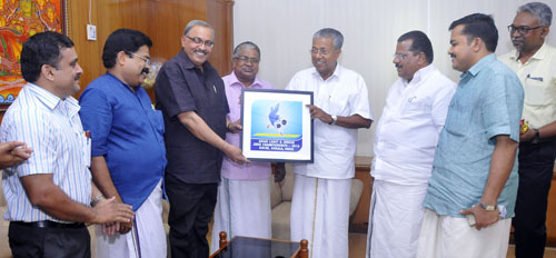 Hon'ble Chief Minister of Kerala Shri. Pinarayi Vijayan, launched Logo of 10th Asian Cadet & 17th Asian Junior Judo Championships 2016, Kochi